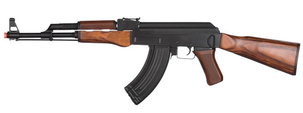 LCK47 Full Metal AK47 Airsoft Rifle w/ Real Wood Stock and Grips