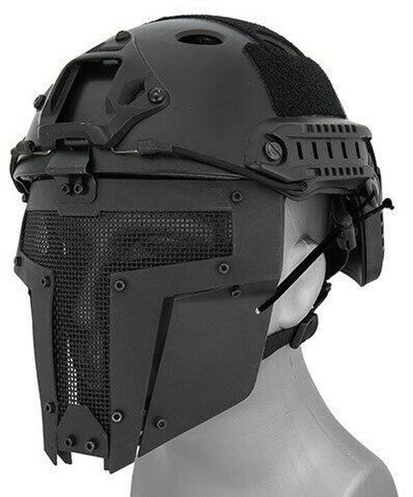 Mesh Mask Face Shield for Airsoft Helmet Systems, Black
