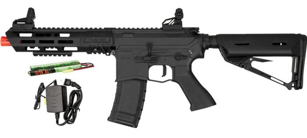 Valken ASL Series AEG Airsoft Rifle KILO, Black - Included Battery and Charger
