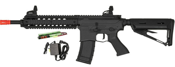 Valken ASL Series AEG Airsoft Rifle MOD-M, Black - Included Battery and Charger