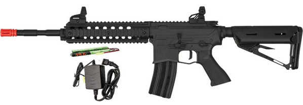 Valken ASL Series AEG Airsoft Rifle MOD-L, Black - Included Battery and Charger