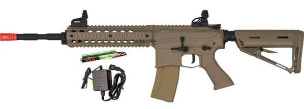 Valken ASL Series AEG Airsoft Rifle MOD-L, Tan - Included Battery and Charger