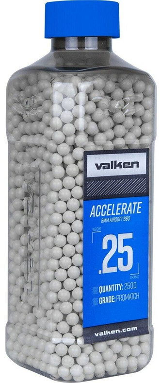 Valken Accelerate 0.25g BBs, 2500 CT, White