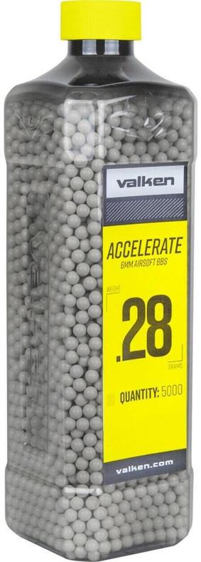 Valken Accelerate 0.28g BBs, 5000 CT, White