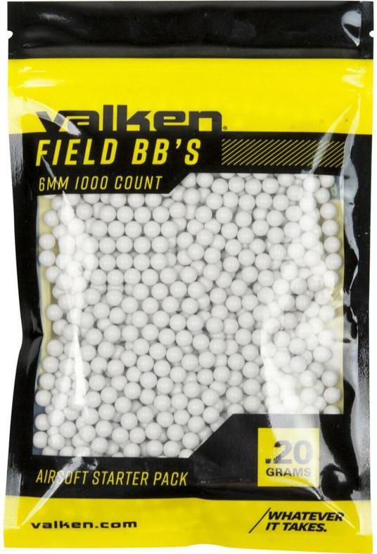 Valken Field 0.20g BBs, 1000 CT, White