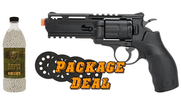 Elite Force H8R Revolver Bundle - Includes 4 Extra Mags and 5000 BBs
