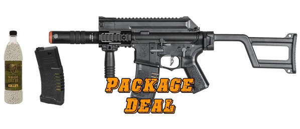 ARES Amoeba AM-005 SMG Bundle - Includes Extra Mag and 5000 BBs