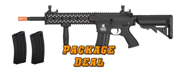Lancer Tactical Gen 2 M4 RIS AEG Bundle - Includes 2 Extra Mags / Battery / Charger