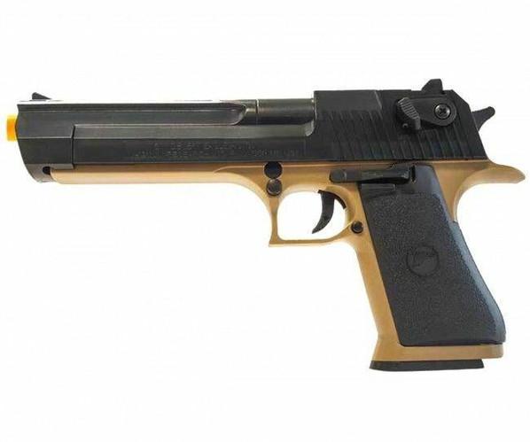 Desert Eagle Spring Pistol, Tan/Black