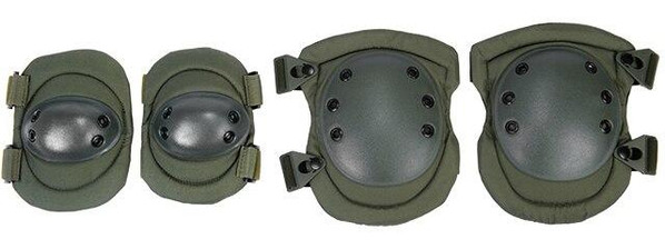 Lancer Tactical Nylon Elbow and Knee Pads, Olive Drab Green