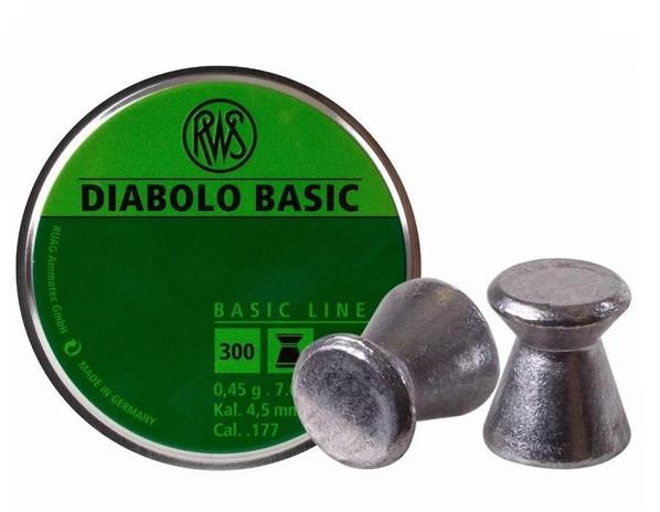 UMAREX RWS Diabolo .177 Cal 300 Count Wadcutter Pellets, 7.0 Grains