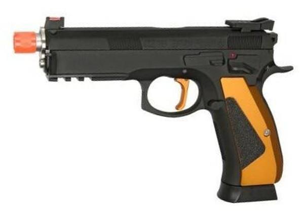 ASG CZ SP-01 ACCU Special Edition Gas Blowback Airsoft Pistol, Black
