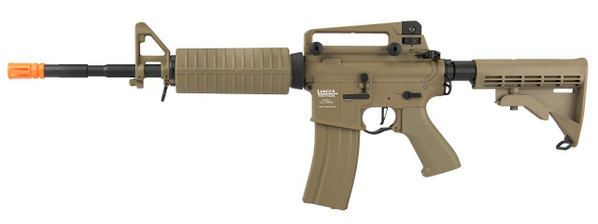 Lancer Tactical M4A1 LT-06 Proline Series Carbine High FPS Airsoft Rifle, Tan