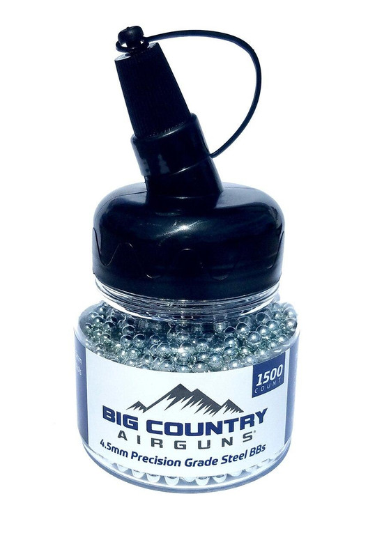 Big Country Airguns Precision Grade 4.5mm Steel BBs, 1500 Count