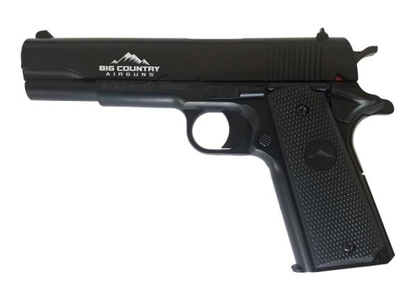 Big Country Airguns The Classic 1911 Spring .177 Airgun, Black