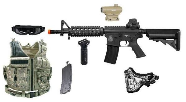 Colt M4 CQB Full Metal AEG - Complete Combo
