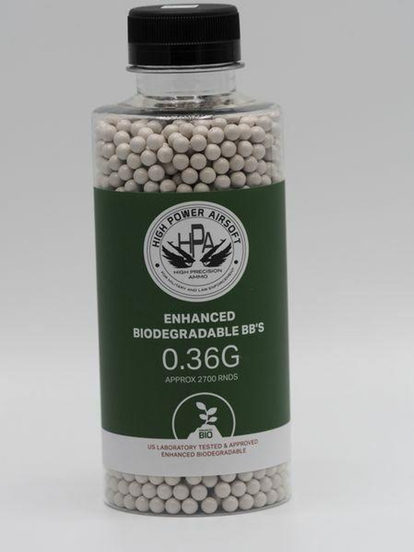 HPA 0.36 Biodegradable Airsoft BBs, 2700 Ct