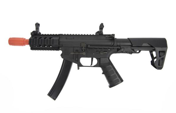 King Arms PDW 9mm MP5 SBR Short Airsoft AEG, Black
