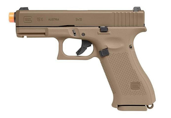 VFC Glock G19X Gas Blowback Airsoft Pistol, Tan