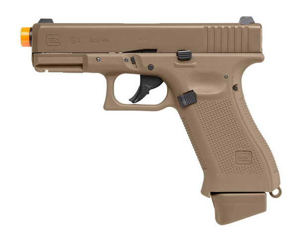 VFC Glock G19X Co2 HALF Blowback Airsoft Pistol, Tan