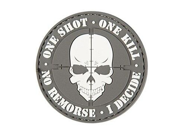One Shot, One Kill PVC Patch, Gray