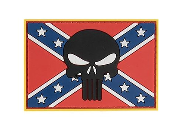 G-Force Confederate Rebel Battle Flag and Skull PVC Morale Patch