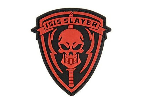 G-Force ISIS Slayer Knife and Skull PVC Morale Patch, Red