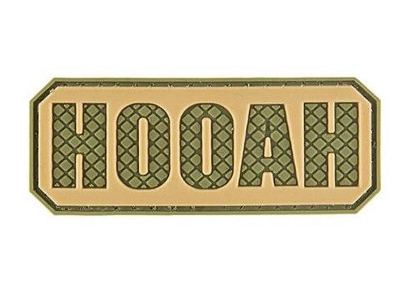 G-Force Hooah PVC Morale Patch, OD Green