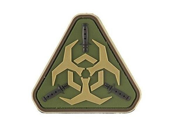 G-Force Resident Evil Biohazard PVC Morale Patch, OD Green