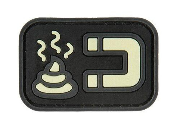 G-Force Glow-In-The-Dark S Magnet PVC Morale Patch, Black