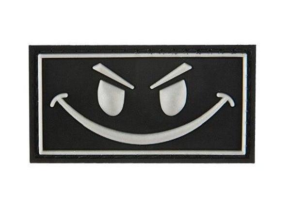 G-Force Dark Evil Smile PVC Morale Patch, Black