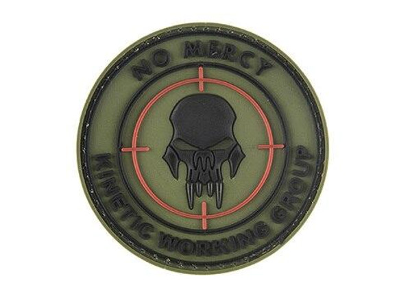 G-Force No Mercy Round PVC Morale Patch, OD Green