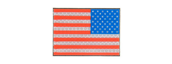 G-Force American Flag Reflective Morale Patch, Right Side