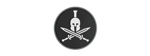 G-Force Spartan Molon Labe Round PVC Morale Patch, Black