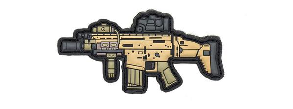 Aprilla Design PVC Iff Hook and Loop Modern Warfare Series Patch, Scar-H