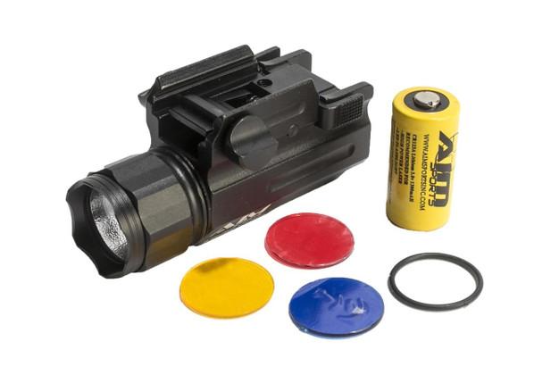 AIM Sports 220 Lumens Compact Flashlight, Black