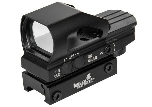 Lancer Tactical 4 Reticle Reflex Sight w/ Button Control
