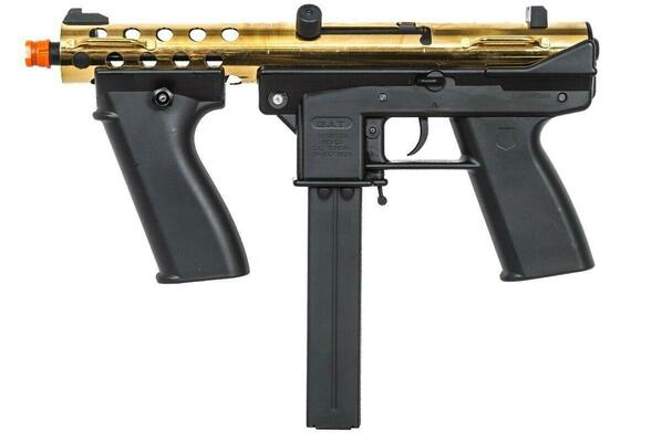 Echo 1 GAT General Assault Tool SMG Airsoft Rifle, Gold