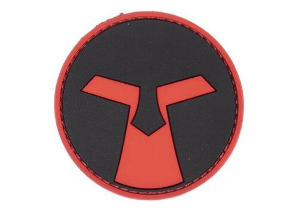 Amoeba PVC Patch, Red and Black
