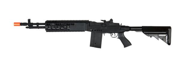 Lancer Tactical M14 EBR Full Metal AEG Airsoft Rifle w/ Crane Stock, Black