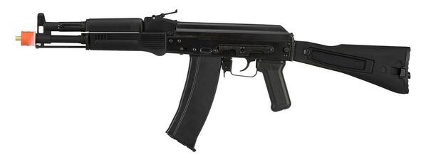 GHK GK105 AK74 Gas Blowback Airsoft Rifle, Black