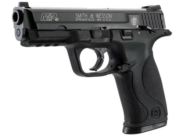 KWC Smith and Wesson MandP 40 Co2 Blowback Airsoft Pistol, Black