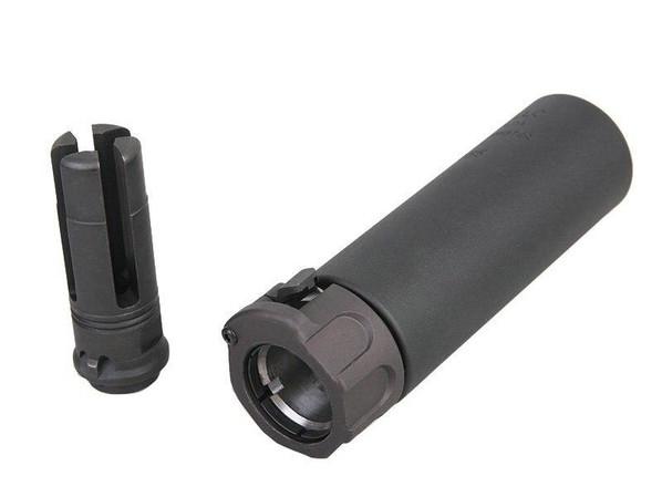 Raptors Airsoft SOCOM Series 556 Mini Mock Silencer and -14mm CCW Flash Hider, Black