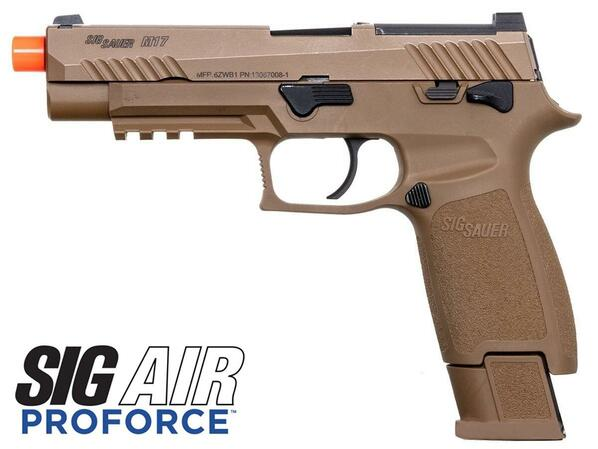 SIG SAUER M17 Proforce Series Gas Blowback Airsoft Pistol, Coyote Tan
