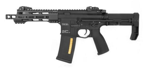 KWA Ronin T6 PDW VM4 2.5 AEG Airsoft Rifle, Black