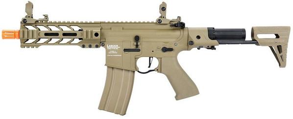 Lancer Tactical ProLine Series BATTLE HAWK PDW High FPS AEG Airsoft Rifle, Tan