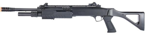 BO Manufacturer FABARM STF12 18 Barrel Pump Action Shotgun w/ Stock, Black