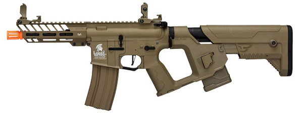 Lancer Tactical Enforcer Series NEEDLETAIL Hybrid Low FPS AEG Airsoft Rifle w/ Alpha Stock, Tan