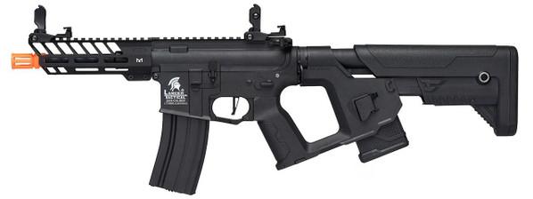 Lancer Tactical Enforcer Series NEEDLETAIL Hybrid Low FPS AEG Airsoft Rifle w/ Alpha Stock, Black