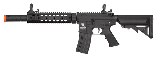 Lancer Tactical LT-15 M4 SD 9 Hybrid Gen 2 Low FPS AEG Airsoft Rifle, Black
